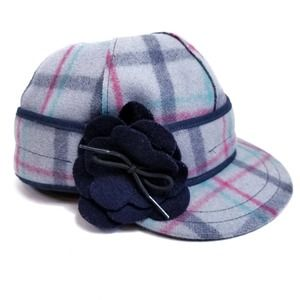 Stormy Kromer Gray Plaid Hat Cap Size 7 1/8